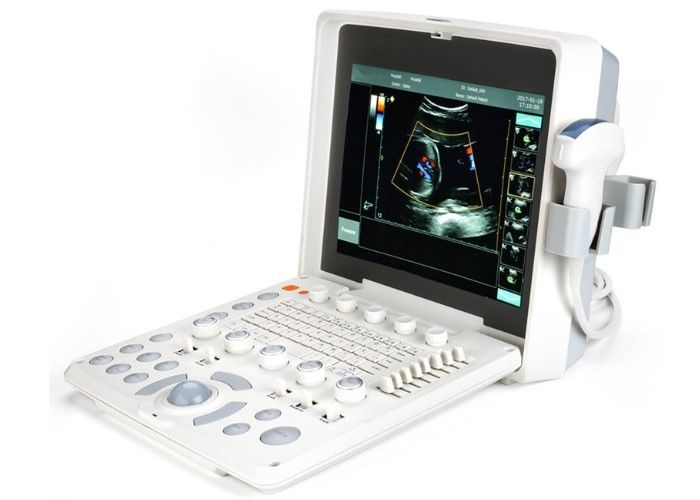 2 Probe Connectors Laptop Ultrasound Scanner Color Doppler Machine With High Resolution