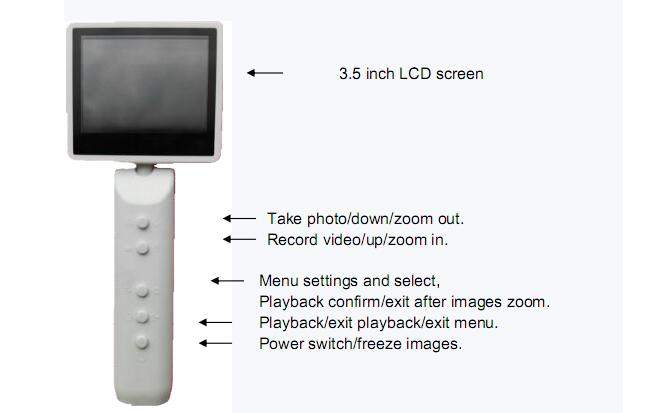 High Resolution Portable Endoscopy Larygoscope Rhinoscope And Digital Video Otoscope With USB Connection