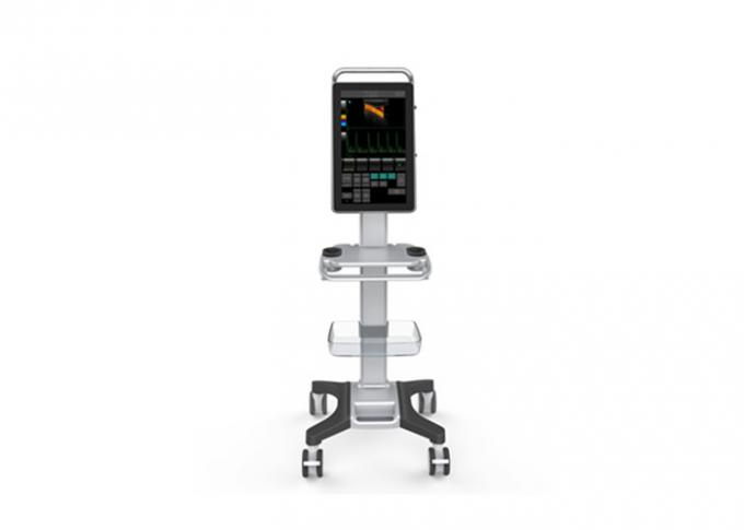 "Trolley Color Ultrasound Scanner Color Doppler Machine With 18.5""  Medical Touch Monitor"
