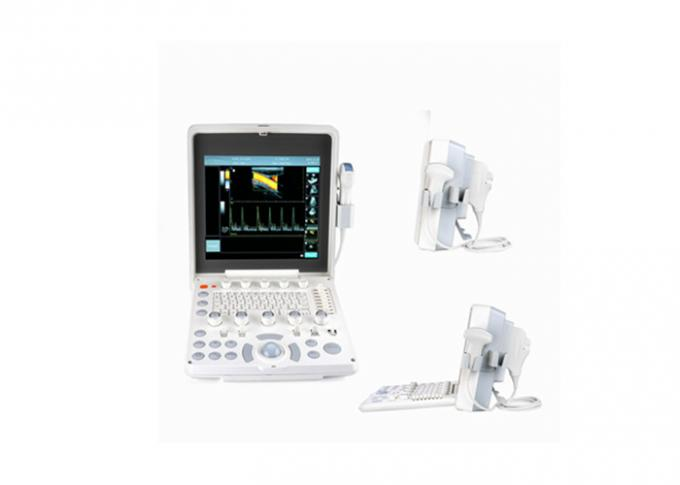 2 Probe Connectors Portable Ultrasound Scanner With High Resolution CFM PDI PW Modes