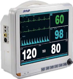 15 Inch Display Multi Parameter Patient Monitor with 6 Standard parameters: ECG, RESP, NIBP, SPO2, 2-TEMP, PR/HR