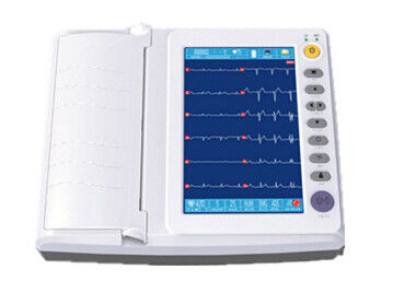 10 inch Touch Screen ECG Monitoring System Recording Mode 3ch+++ 6ch 6ch+ 12ch