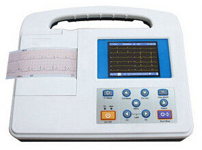 China Large LCD Screen 12 Lead Ecg Machine , Rs232 and USB Interface factory
