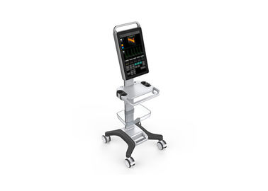 China 2. 0MHz~10. 0MHz  18.5 Inch Full Touch Screen Trolley Color Doppler Machine With Video Output factory