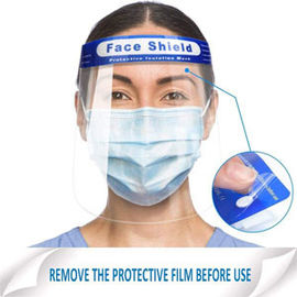 Clear Wide Visor Spitting Lightweight Disposable Face Shield