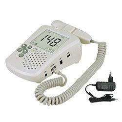 9V Alkaline Battery Earphone And Speaker Fetal Heart Rate Doppler With Color LCD Display Earphone And Speaker
